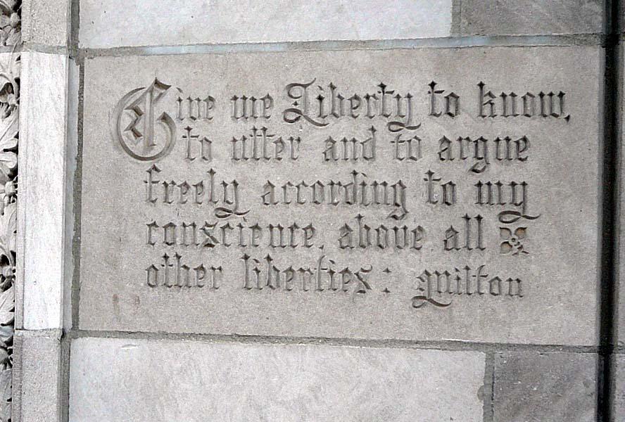 Quotation at Tribune Tower