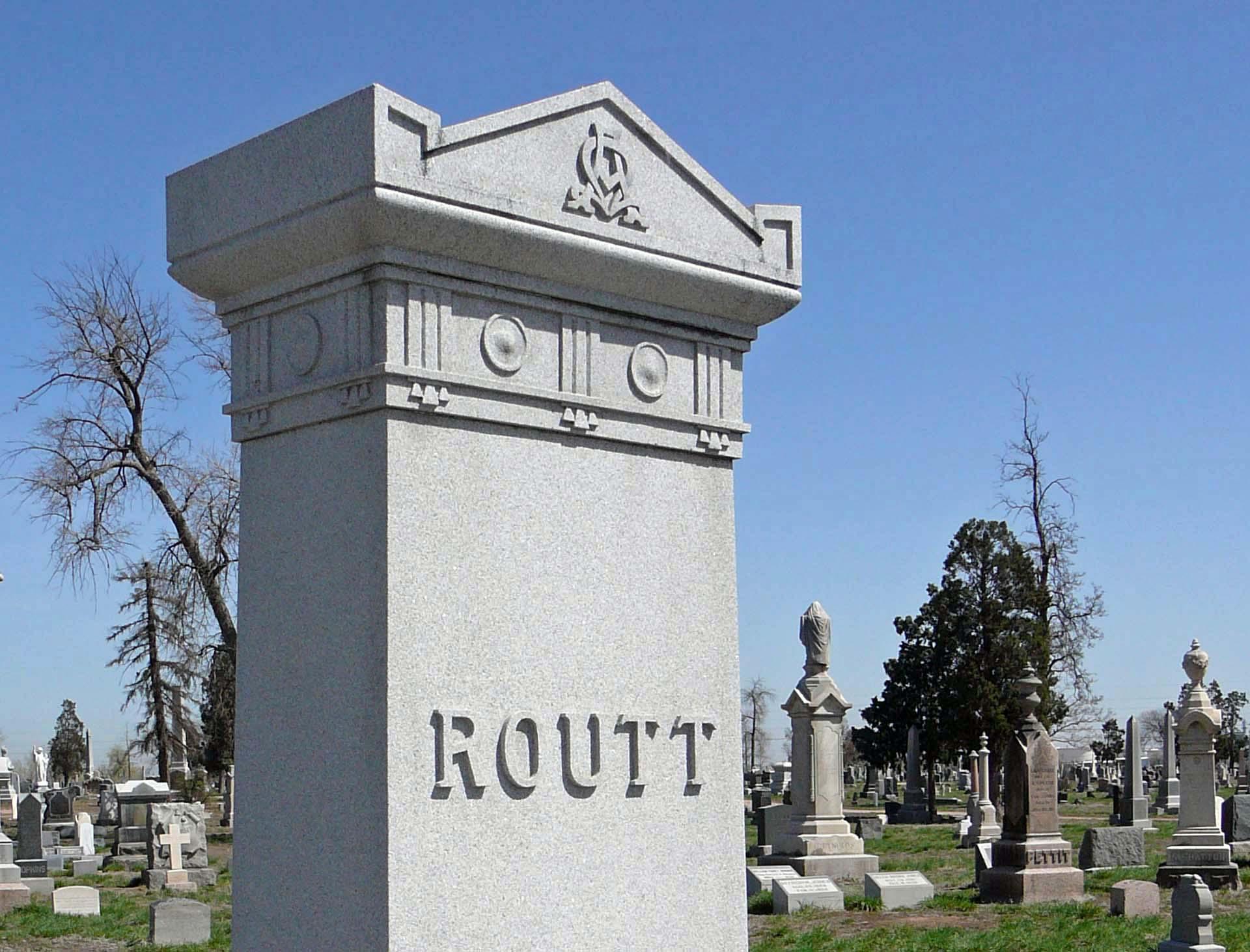 Routt Headstone Symbol