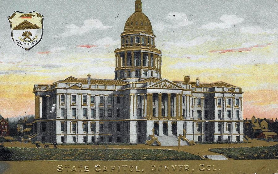 Denver Capitol w gold dome